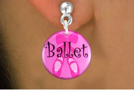 "<bR>                            EXCLUSIVELY OURS!!<BR>                      AN ALLAN ROBIN DESIGN!!<BR>             CLICK HERE TO SEE 600+ EXCITING<BR>                CHANGES THAT YOU CAN MAKE!<BR>                         LEAD & NICKEL FREE!! <BR> W1228SE - PINK ""BALLET"" SHOES CHARM <Br>EARRINGS FROM $4.50 TO $8.35 �2012"