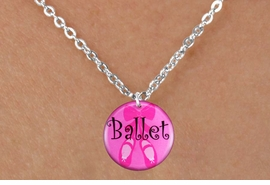 "<bR>                       EXCLUSIVELY OURS!!<BR>                 AN ALLAN ROBIN DESIGN!!<BR>        CLICK HERE TO SEE 600+ EXCITING<BR>           CHANGES THAT YOU CAN MAKE!<BR>                      LEAD & NICKEL FREE!!<BR>W1228SN - PINK ""BALLET"" SHOES CHARM <Br>& CHILDRENS NECKLACE FROM $4.55 TO $8.00 �2012"
