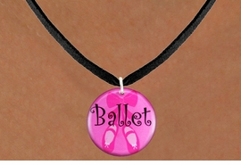 "<bR>                       EXCLUSIVELY OURS!!<BR>                 AN ALLAN ROBIN DESIGN!!<BR>        CLICK HERE TO SEE 600+ EXCITING<BR>           CHANGES THAT YOU CAN MAKE!<BR>                      LEAD & NICKEL FREE!!<BR>W1228SN - PINK ""BALLET"" SHOES CHARM <Br>  & NECKLACE FROM $4.55 TO $8.00 �2012"