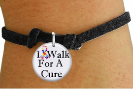 "<bR>                          EXCLUSIVELY OURS!!<BR>                    AN ALLAN ROBIN DESIGN!!<BR>           CLICK HERE TO SEE 600+ EXCITING<BR>              CHANGES THAT YOU CAN MAKE!<BR>                       LEAD & NICKEL FREE!!<BR>W1229SB - AUTISM RIBBON ""I WALK FOR A CURE"" <Br>CHARM & CHILDRENS BRACELET FROM $4.15 TO $8.00 �2012"