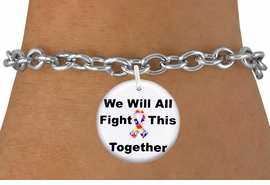 "<bR>                EXCLUSIVELY OURS!!<BR>          AN ALLAN ROBIN DESIGN!!<BR>  CLICK HERE TO SEE 600+ EXCITING <BR>    CHANGES THAT YOU CAN MAKE!<BR>             LEAD & NICKEL FREE!! <BR>W1230SB - AUTISM PUZZLE RIBBON <BR>""WE WILL ALL FIGHT THIS TOGETHER"" <Br>                    CHARM & BRACELET <BR>        FROM $4.15 TO $8.00 �2012"