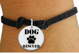 "<bR>                  EXCLUSIVELY OURS!!<BR>            AN ALLAN ROBIN DESIGN!!<BR>    CLICK HERE TO SEE 600+ EXCITING <BR>      CHANGES THAT YOU CAN MAKE!<BR>               LEAD & NICKEL FREE!! <BR>W1256SB - ""DOG RESCUER"" WITH PAW <Br>   DISK CHARM & CHILDRENS BRACELET <BR>          FROM $4.15 TO $8.00 �2012"