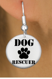 "<bR>                    EXCLUSIVELY OURS!!<BR>              AN ALLAN ROBIN DESIGN!!<BR>     CLICK HERE TO SEE 600+ EXCITING<BR>        CHANGES THAT YOU CAN MAKE!<BR>                   LEAD & NICKEL FREE!!<BR>   W1256SE - ""DOG RESCUER"" WITH PAW <Br>                 DISK CHARM EARRINGS <BR>           FROM $3.25 TO $8.00 �2012"