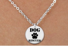 "<bR>                     EXCLUSIVELY OURS!!<BR>               AN ALLAN ROBIN DESIGN!!<BR>      CLICK HERE TO SEE 600+ EXCITING<BR>         CHANGES THAT YOU CAN MAKE!<BR>                    LEAD & NICKEL FREE!!<BR>   W1256SN - ""DOG RESCUER"" WITH PAW  <Br>     DISK CHARM & CHILDRENS NECKLACE <BR>           FROM $4.55 TO $8.00 �2012"