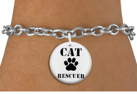 "<bR>                  EXCLUSIVELY OURS!!<BR>            AN ALLAN ROBIN DESIGN!!<BR>    CLICK HERE TO SEE 600+ EXCITING <BR>      CHANGES THAT YOU CAN MAKE!<BR>               LEAD & NICKEL FREE!! <BR>W1257SB - ""CAT RESCUER"" WITH PAW <Br>              DISK CHARM & BRACELET <BR>          FROM $4.15 TO $8.00 �2012"