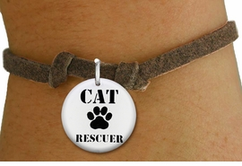 "<bR>                  EXCLUSIVELY OURS!!<BR>            AN ALLAN ROBIN DESIGN!!<BR>    CLICK HERE TO SEE 600+ EXCITING <BR>      CHANGES THAT YOU CAN MAKE!<BR>               LEAD & NICKEL FREE!! <BR>W1257SB - ""CAT RESCUER"" WITH PAW <Br>  DISK CHARM & CHILDRENS BRACELET <BR>          FROM $4.15 TO $8.00 �2012"