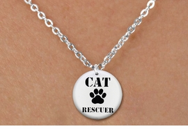 "<bR>                     EXCLUSIVELY OURS!!<BR>               AN ALLAN ROBIN DESIGN!!<BR>      CLICK HERE TO SEE 600+ EXCITING<BR>         CHANGES THAT YOU CAN MAKE!<BR>                    LEAD & NICKEL FREE!!<BR>   W1257SN - ""CAT RESCUER"" WITH PAW  <Br>    DISK CHARM & CHILDRENS NECKLACE <BR>           FROM $4.55 TO $8.00 �2012"