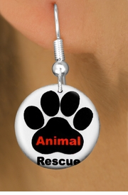 "<bR>                    EXCLUSIVELY OURS!!<BR>              AN ALLAN ROBIN DESIGN!!<BR>     CLICK HERE TO SEE 600+ EXCITING<BR>        CHANGES THAT YOU CAN MAKE!<BR>                   LEAD & NICKEL FREE!! <BR>   W1259SE - ""ANIMAL RESCUE"" WITH PAW<Br>                 DISK CHARM EARRINGS <BR>           FROM $3.25 TO $8.00 �2012"