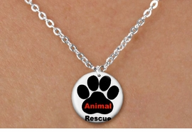 "<bR>                     EXCLUSIVELY OURS!!<BR>               AN ALLAN ROBIN DESIGN!!<BR>      CLICK HERE TO SEE 600+ EXCITING<BR>         CHANGES THAT YOU CAN MAKE!<BR>                    LEAD & NICKEL FREE!! <BR>W1259SN - ""ANIMAL RESCUE"" WITH PAW  <Br>   DISK CHARM & CHILDRENS NECKLACE <BR>           FROM $4.50 TO $8.35 �2012"