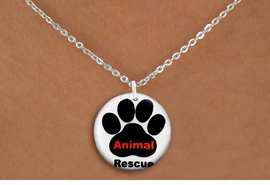 "<bR>                     EXCLUSIVELY OURS!!<BR>               AN ALLAN ROBIN DESIGN!!<BR>      CLICK HERE TO SEE 600+ EXCITING<BR>         CHANGES THAT YOU CAN MAKE!<BR>                    LEAD & NICKEL FREE!! <BR>W1259SN - ""ANIMAL RESCUE"" WITH PAW  <Br>                DISK CHARM & NECKLACE <BR>           FROM $4.55 TO $8.00 �2012"