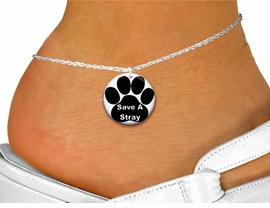 "<bR>                     EXCLUSIVELY OURS!!<BR>               AN ALLAN ROBIN DESIGN!!<BR>      CLICK HERE TO SEE 600+ EXCITING<BR>         CHANGES THAT YOU CAN MAKE!<BR>                  LEAD & NICKEL FREE!!<BR>  W1260SAK - "" SAVE A STRAY"" WITH PAW <Br>                 DISK CHARM & ANKLET <BR>          FROM $3.35 TO $8.00 �2012"