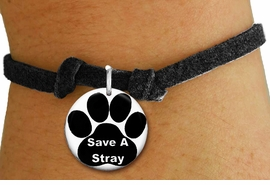 "<bR>                  EXCLUSIVELY OURS!!<BR>            AN ALLAN ROBIN DESIGN!!<BR>    CLICK HERE TO SEE 600+ EXCITING <BR>      CHANGES THAT YOU CAN MAKE!<BR>               LEAD & NICKEL FREE!! <BR>  W1260SB - ""SAVE A STRAY"" WITH PAW <Br> DISK CHARM & CHILDRENS BRACELET <BR>          FROM $4.15 TO $8.00 �2012"