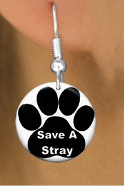 "<bR>                    EXCLUSIVELY OURS!!<BR>              AN ALLAN ROBIN DESIGN!!<BR>     CLICK HERE TO SEE 600+ EXCITING<BR>        CHANGES THAT YOU CAN MAKE!<BR>                   LEAD & NICKEL FREE!! <BR>W1260SE - ""SAVE A STRAY"" WITH PAW<Br>                 DISK CHARM EARRINGS <BR>           FROM $3.25 TO $8.00 �2012"