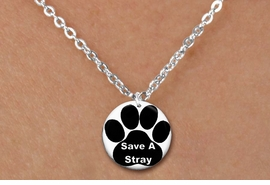 "<bR>                     EXCLUSIVELY OURS!!<BR>               AN ALLAN ROBIN DESIGN!!<BR>      CLICK HERE TO SEE 600+ EXCITING<BR>         CHANGES THAT YOU CAN MAKE!<BR>                    LEAD & NICKEL FREE!! <BR>W1260SN - ""SAVE A STRAY"" WITH PAW  <Br>   DISK CHARM & CHILDRENS NECKLACE <BR>           FROM $4.55 TO $8.00 �2012"