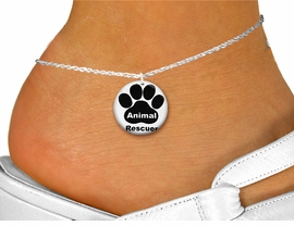 "<bR>                     EXCLUSIVELY OURS!!<BR>               AN ALLAN ROBIN DESIGN!!<BR>      CLICK HERE TO SEE 600+ EXCITING<BR>         CHANGES THAT YOU CAN MAKE!<BR>                  LEAD & NICKEL FREE!!<BR>  W1262SAK - "" ANIMAL RESCUER"" WITH PAW <Br>                 DISK CHARM & ANKLET <BR>          FROM $3.35 TO $8.00 �2012"