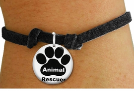 "<bR>                  EXCLUSIVELY OURS!!<BR>            AN ALLAN ROBIN DESIGN!!<BR>    CLICK HERE TO SEE 600+ EXCITING <BR>      CHANGES THAT YOU CAN MAKE!<BR>               LEAD & NICKEL FREE!! <BR>W1262SB - ""ANIMAL RESCUER"" WITH PAW <Br>  DISK CHARM & CHILDRENS BRACELET <BR>          FROM $4.15 TO $8.00 �2012"