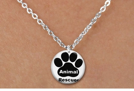 "<bR>                     EXCLUSIVELY OURS!!<BR>               AN ALLAN ROBIN DESIGN!!<BR>      CLICK HERE TO SEE 600+ EXCITING<BR>         CHANGES THAT YOU CAN MAKE!<BR>                    LEAD & NICKEL FREE!! <BR>W1262SN - ""ANIMAL RESCUER"" WITH PAW <Br>    DISK CHARM & CHILDRENS NECKLACE <BR>           FROM $4.55 TO $8.00 �2012"