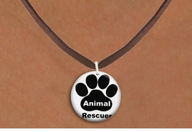 "<bR>                     EXCLUSIVELY OURS!!<BR>               AN ALLAN ROBIN DESIGN!!<BR>      CLICK HERE TO SEE 600+ EXCITING<BR>         CHANGES THAT YOU CAN MAKE!<BR>                    LEAD & NICKEL FREE!! <BR>W1262SN - ""ANIMAL RESCUER"" WITH PAW <Br>                DISK CHARM & NECKLACE <BR>           FROM $4.55 TO $8.00 �2012"