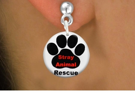 "<bR>                    EXCLUSIVELY OURS!!<BR>              AN ALLAN ROBIN DESIGN!!<BR>     CLICK HERE TO SEE 600+ EXCITING<BR>        CHANGES THAT YOU CAN MAKE!<BR>                   LEAD & NICKEL FREE!! <BR>   W1263SE - ""STRAY ANIMAL RESCUE"" <Br>                 DISK CHARM EARRINGS <BR>           FROM $3.25 TO $8.00 �2012"