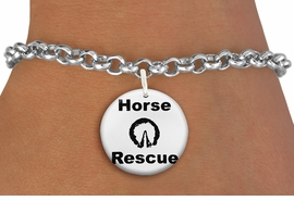 "<bR>                  EXCLUSIVELY OURS!!<BR>            AN ALLAN ROBIN DESIGN!!<BR>    CLICK HERE TO SEE 600+ EXCITING <BR>      CHANGES THAT YOU CAN MAKE!<BR>               LEAD & NICKEL FREE!! <BR>   W1264SB - ""HORSE RESCUE"" WITH HOOF<Br>              DISK CHARM & BRACELET <BR>          FROM $4.15 TO $8.00 �2012"