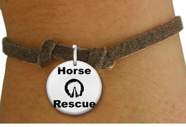 "<bR>                  EXCLUSIVELY OURS!!<BR>            AN ALLAN ROBIN DESIGN!!<BR>    CLICK HERE TO SEE 600+ EXCITING <BR>      CHANGES THAT YOU CAN MAKE!<BR>               LEAD & NICKEL FREE!! <BR>   W1264SB - ""HORSE RESCUE"" WITH HOOF<Br>  DISK CHARM & CHILDRENS BRACELET <BR>          FROM $4.15 TO $8.00 �2012"