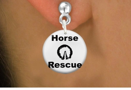 "<bR>                    EXCLUSIVELY OURS!!<BR>              AN ALLAN ROBIN DESIGN!!<BR>     CLICK HERE TO SEE 600+ EXCITING<BR>        CHANGES THAT YOU CAN MAKE!<BR>                   LEAD & NICKEL FREE!! <BR>   W1264SE - ""HORSE RESCUE"" WITH HOOF <Br>                 DISK CHARM EARRINGS <BR>           FROM $3.25 TO $8.00 �2012"