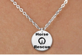 "<bR>                 EXCLUSIVELY OURS!!<BR>            AN ALLAN ROBIN DESIGN!!<BR>   CLICK HERE TO SEE 600+ EXCITING<BR>      CHANGES THAT YOU CAN MAKE!<BR>                 LEAD & NICKEL FREE!! <BR>W1264SN - ""HORSE  RESCUE"" WITH HOOF <Br> DISK CHARM & CHILDRENS NECKLACE <BR>        FROM $4.55 TO $8.00 �2012"