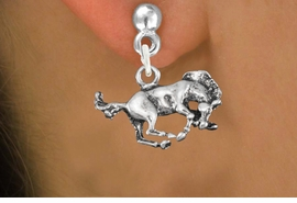 <bR>               EXCLUSIVELY OURS!!<BR>         AN ALLAN ROBIN DESIGN!!<BR>CLICK HERE TO SEE 600+ EXCITING<BR>   CHANGES THAT YOU CAN MAKE!<BR>              LEAD & NICKEL FREE!! <BR>   W1265SE - BUCKING BRONCO <BR>   CHARM PIERCED EAR EARRINGS <BR>      FROM $3.25 TO $8.00 �2012