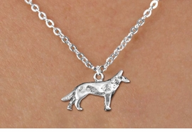 <bR>               EXCLUSIVELY OURS!!<BR>         AN ALLAN ROBIN DESIGN!!<BR>CLICK HERE TO SEE 600+ EXCITING<BR>   CHANGES THAT YOU CAN MAKE!<BR>              LEAD & NICKEL FREE!!<BR>      W1266SN - STANDING WOLF <Br>  CHARM & CHILDRENS NECKLACE<BR>      FROM $4.55 TO $8.00 �2012