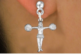 "<bR>               EXCLUSIVELY OURS!!<BR>         AN ALLAN ROBIN DESIGN!!<BR>CLICK HERE TO SEE 600+ EXCITING<BR>   CHANGES THAT YOU CAN MAKE!<BR>              LEAD & NICKEL FREE!! <BR>W1267SE -  ""T POSE"" CHEERLEADER <BR>   CHARM PIERCED EAR EARRINGS <BR>      FROM $3.25 TO $8.00 �2012"