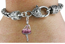 <bR>                   EXCLUSIVELY OURS!!<BR>             AN ALLAN ROBIN DESIGN!!<BR>    CLICK HERE TO SEE 600+ EXCITING<BR>       CHANGES THAT YOU CAN MAKE!<BR>                 LEAD & NICKEL FREE!!<BR>W1269SB - ROSE CRYSTAL BALLERINA <BR>CHARM & HEART CLASP BRACELET <BR>         FROM $5.63 TO $12.50 �2012
