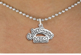"<bR>               EXCLUSIVELY OURS!!<BR>         AN ALLAN ROBIN DESIGN!!<BR>CLICK HERE TO SEE 600+ EXCITING<BR>   CHANGES THAT YOU CAN MAKE!<BR>              LEAD & NICKEL FREE!! <BR>W1285SN -  ""COLOR GUARD MOM"" <Br>SILVER TONE CHARM & NECKLACE <BR>      FROM $4.50 TO $8.35 �2012"