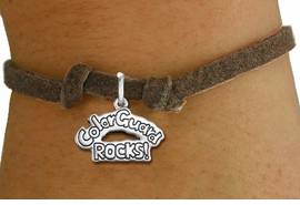 "<bR>               EXCLUSIVELY OURS!!<BR>         AN ALLAN ROBIN DESIGN!!<BR>CLICK HERE TO SEE 600+ EXCITING<BR>   CHANGES THAT YOU CAN MAKE!<BR>             LEAD & NICKEL FREE!! <BR>W1286SB - ""COLOR GUARD ROCKS!""  <BR>SILVER TONE CHILDS CHARM  BRACELET <BR>     FROM $4.15 TO $8.00 �2012"