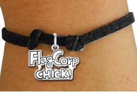 "<bR>               EXCLUSIVELY OURS!!<BR>         AN ALLAN ROBIN DESIGN!!<BR>CLICK HERE TO SEE 600+ EXCITING<BR>   CHANGES THAT YOU CAN MAKE!<BR>             LEAD & NICKEL FREE!! <BR>W1287SB - ""FLAG CORP CHICK!""  <BR>SILVER TONE CHILDS CHARM BRACELET <BR>     FROM $4.15 TO $8.00 �2012"