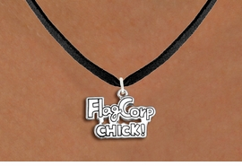 "<bR>               EXCLUSIVELY OURS!!<BR>         AN ALLAN ROBIN DESIGN!!<BR>CLICK HERE TO SEE 600+ EXCITING<BR>   CHANGES THAT YOU CAN MAKE!<BR>              LEAD & NICKEL FREE!! <BR>W1287SN -  ""FLAG CORP CHICK!"" <Br>SILVER TONE CHARM & NECKLACE <BR>      FROM $4.50 TO $8.35 �2012"