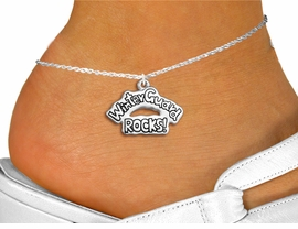 "<bR>                 EXCLUSIVELY OURS!!<BR>           AN ALLAN ROBIN DESIGN!!<BR>  CLICK HERE TO SEE 600+ EXCITING<BR>     CHANGES THAT YOU CAN MAKE!<BR>               LEAD & NICKEL FREE!! <BR>W1288SAK - POLISHED SILVER TONE <BR>""WINTER GUARD ROCKS!"" CHARM & ANKLET <BR>         FROM $3.35 TO $8.00 �2012"