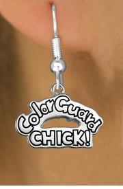 "<bR>               EXCLUSIVELY OURS!!<BR>         AN ALLAN ROBIN DESIGN!!<BR>CLICK HERE TO SEE 600+ EXCITING<BR>   CHANGES THAT YOU CAN MAKE!<BR>              LEAD & NICKEL FREE!! <BR>W1289SE -  SILVER TONE CHARM <BR>"" COLOR GUARD CHICK!"" EARRINGS  <BR>      FROM $4.50 TO $8.35 �2012"