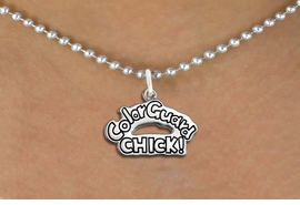 "<bR>               EXCLUSIVELY OURS!!<BR>         AN ALLAN ROBIN DESIGN!!<BR>CLICK HERE TO SEE 600+ EXCITING<BR>   CHANGES THAT YOU CAN MAKE!<BR>              LEAD & NICKEL FREE!! <BR>W1289SN -  ""COLOR GUARD CHICK!"" <Br>SILVER TONE CHARM & NECKLACE <BR>      FROM $4.50 TO $8.35 �2012"