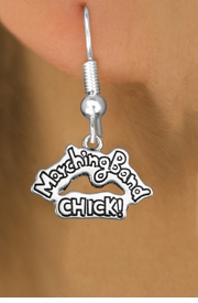 "<bR>               EXCLUSIVELY OURS!!<BR>         AN ALLAN ROBIN DESIGN!!<BR>CLICK HERE TO SEE 600+ EXCITING<BR>   CHANGES THAT YOU CAN MAKE!<BR>              LEAD & NICKEL FREE!! <BR>W1290SE -  SILVER TONE CHARM <BR>"" MARCHING BAND CHICK!"" EARRINGS  <BR>      FROM $4.50 TO $8.35 �2012"