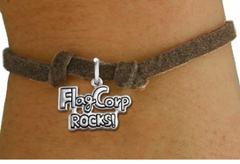 "<bR>               EXCLUSIVELY OURS!!<BR>         AN ALLAN ROBIN DESIGN!!<BR>CLICK HERE TO SEE 600+ EXCITING<BR>   CHANGES THAT YOU CAN MAKE!<BR>             LEAD & NICKEL FREE!! <BR>W1291SB - ""FLAG CORP ROCKS!""<BR>SILVER TONE CHILDS CHARM BRACELET <BR>     FROM $4.15 TO $8.00 �2012"