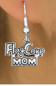 "<bR>               EXCLUSIVELY OURS!!<BR>         AN ALLAN ROBIN DESIGN!!<BR>CLICK HERE TO SEE 600+ EXCITING<BR>   CHANGES THAT YOU CAN MAKE!<BR>              LEAD & NICKEL FREE!! <BR>W1292SE -  SILVER TONE CHARM <BR>"" FLAG CORP MOM"" EARRINGS  <BR>      FROM $4.50 TO $8.35 �2012"
