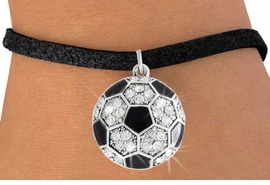 <bR>               EXCLUSIVELY OURS!!<BR>         AN ALLAN ROBIN DESIGN!!<BR>CLICK HERE TO SEE 600+ EXCITING<BR>   CHANGES THAT YOU CAN MAKE!<BR>              LEAD & NICKEL FREE!!<BR>    W908SB - AUSTRIAN CRYSTAL<Br> SOCCER BALL CHARM &  BRACELET<bR>              FROM $5.15 TO $9.00