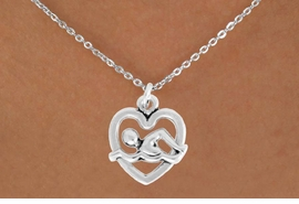 "<bR>               EXCLUSIVELY OURS!!<BR>         AN ALLAN ROBIN DESIGN!!<BR>CLICK HERE TO SEE 600+ EXCITING<BR>   CHANGES THAT YOU CAN MAKE!<BR>              LEAD & NICKEL FREE!!<BR>  W964SN - ""SWIMMING"" NECKLACE<Br>               FROM $4.55 TO $8.00"