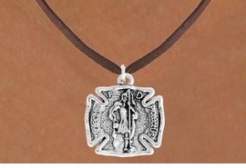 "<bR>                      EXCLUSIVELY OURS!!<BR>                AN ALLAN ROBIN DESIGN!!<BR>       CLICK HERE TO SEE 600+ EXCITING<BR>          CHANGES THAT YOU CAN MAKE!<BR>                     LEAD & NICKEL FREE!!<BR>    W979SN - ""PROTECT HIM PROTECT US""<BR>        ST. FLORIAN FIRE FIGHTER SHIELD<Br>         NECKLACE FROM $4.55 TO $8.00"