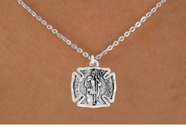 "<bR>                      EXCLUSIVELY OURS!!<BR>                AN ALLAN ROBIN DESIGN!!<BR>       CLICK HERE TO SEE 600+ EXCITING<BR>          CHANGES THAT YOU CAN MAKE!<BR>                     LEAD & NICKEL FREE!!<BR>    W979SN - ""PROTECT HIM PROTECT US""<BR>        ST. FLORIAN FIRE FIGHTER SHIELD<Br>         NECKLACE FROM $4.50 TO $8.35"