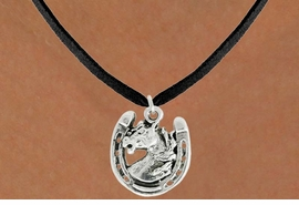 "<bR>               EXCLUSIVELY OURS!!<BR>         AN ALLAN ROBIN DESIGN!!<BR>CLICK HERE TO SEE 600+ EXCITING<BR>   CHANGES THAT YOU CAN MAKE!<BR>              LEAD & NICKEL FREE!!<BR>W986SN - ""STALLION ON HORSE SHOE""<Br>  NECKLACE FROM $4.55 TO $8.00"