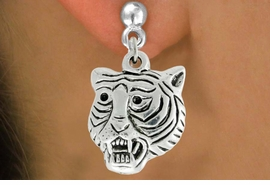 "<bR>               EXCLUSIVELY OURS!!<BR>         AN ALLAN ROBIN DESIGN!!<BR>CLICK HERE TO SEE 600+ EXCITING<BR>   CHANGES THAT YOU CAN MAKE!<BR>              LEAD & NICKEL FREE!!<BR>         W989SE - ""TIGER HEAD""<Br>  EARRINGS FROM $3.25 TO $8.00"