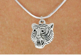 "<bR>               EXCLUSIVELY OURS!!<BR>         AN ALLAN ROBIN DESIGN!!<BR>CLICK HERE TO SEE 600+ EXCITING<BR>   CHANGES THAT YOU CAN MAKE!<BR>              LEAD & NICKEL FREE!!<BR>         W989SN - ""TIGER HEAD""<Br>  NECKLACE FROM $4.55 TO $8.00"