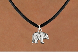 "<bR>               EXCLUSIVELY OURS!!<BR>         AN ALLAN ROBIN DESIGN!!<BR>CLICK HERE TO SEE 600+ EXCITING<BR>   CHANGES THAT YOU CAN MAKE!<BR>              LEAD & NICKEL FREE!!<BR>                W999SN - ""BEAR""<Br>  NECKLACE FROM $4.55 TO $8.00"