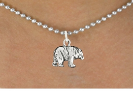 "<bR>               EXCLUSIVELY OURS!!<BR>         AN ALLAN ROBIN DESIGN!!<BR>CLICK HERE TO SEE 600+ EXCITING<BR>   CHANGES THAT YOU CAN MAKE!<BR>              LEAD & NICKEL FREE!!<BR>                W999SN - ""BEAR""<Br>  NECKLACE FROM $4.50 TO $8.35"